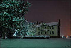 Bellmonte (History Rambler) Tags: longexposure house snow home night south northcarolina historic southern plantation restored antebellum federal rockymount portico bellemont nashcounty hwy301 drjohnrbellamy
