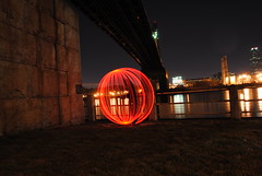 orb greets a cold front (emellin66) Tags: nyc newyorkcity longexposure lightpainting skyline orb queens eastriver queensborobridge rooseveltisland 59thstreetbridge sooc