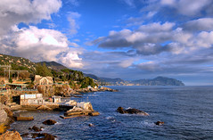 Nervi seascape (HBM) (klausthebest) Tags: light sea sky italy cloud seascape colour bravo italia liguria genoa genova portofino nervi genovanervi topshots passeggiataanitagaribaldi