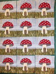 12 little shrooms with a room! (ruthiequilts) Tags: whimsy bbc toadstool