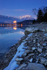 ... blue hour... (diomede2008) Tags: longexposure blue winter italy mountain lake mountains reflection ice nature water reflections landscape mirror twilight nikon europe blu bluehour dolomiti veneto dolomitibellunesi platinumheartaward nikond700 mirrorser diomede2008