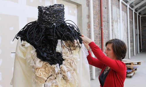 making 'constriction' dress