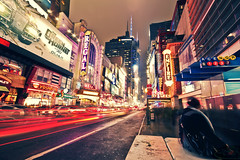 Metropolis (bijoyKetan) Tags: longexposure travel newyork colors night lights timessquare sigma1020mm ndfilter exposureblending