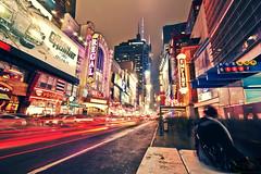 Metropolis (bijoyKetan) Tags: longexposure travel newyork colors night lights timessquare sigma1020mm ndfilter exposureblending