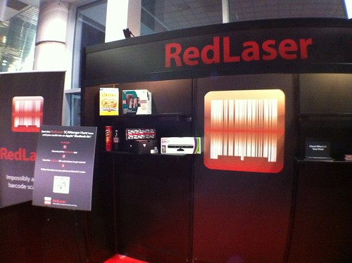 RedLaser Booth set-up for CES 2011