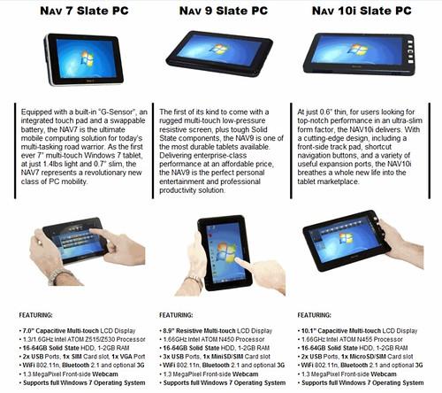 NAV 7,9, 10i Slate PC
