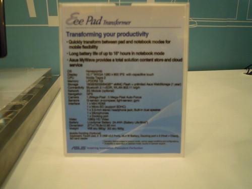 Asus Tablets CES-2011