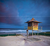 lifeguard hut gold coast (Pawel Papis Photography) Tags: ocean morning blue light sunset sea sky rescue holiday seascape building beach nature water grass sign yellow clouds landscape twilight sand track dusk australia lifeguard hut queensland handrail goldcoast conctete