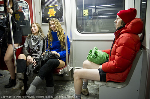 2011 No Pants Subway Ride: Just Another Day