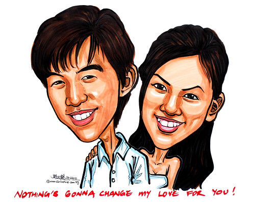 couple caricatures in colour 28122011