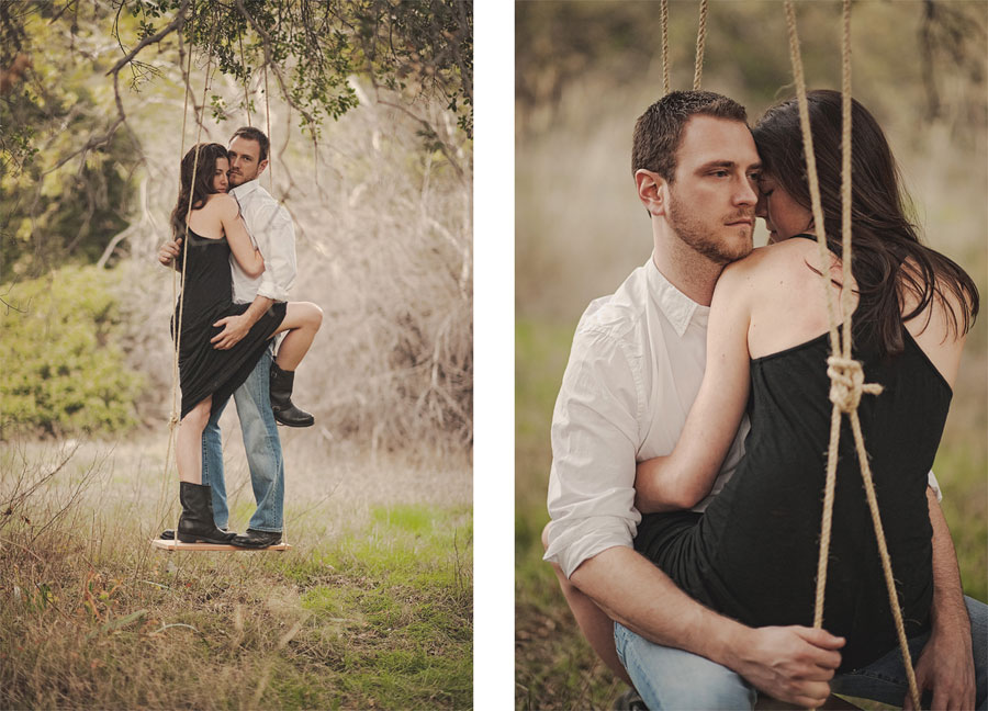 Orange-County-Rustic-Engagement-Photography-in-Silverado-Canyon-with-a-swing.-012