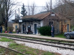 Lilaia train station (g_athens [swaping]) Tags: old station train greece     lilaia