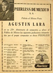 Augustin Lara Discos Peerless ad