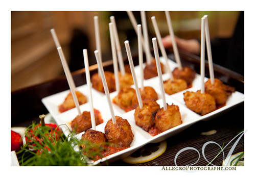 crane-estate-castle-hill-wedding-real-inspiration-mm- appetizer during cocktail hour