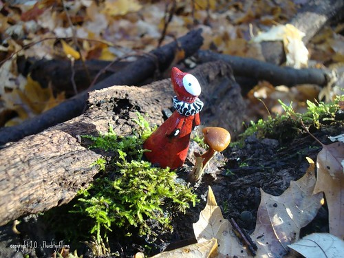Poppet with Moss & Mushroom