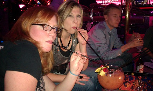 Me, Allison & Rufust at the Fireside Lounge, Peppermill