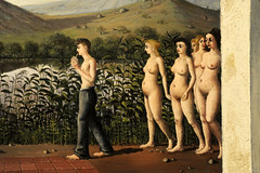 Paul Delvaux. Phases of the Moon. March 1939, detail2,. MoMA, NYC (renzodionigi) Tags: nyc newyork modernart moma