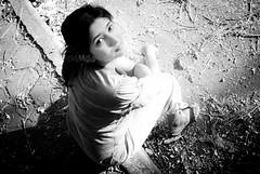 Walking (knowsnotmuch) Tags: bw walking pavement posing 420 wife highkey resting 24mm pitstop madhu explored