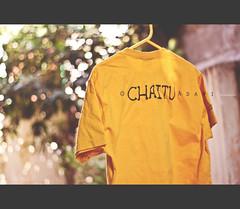 CHAITU is what iam known as ( C H A I T U) Tags: morning light yellow canon happy 50mm nice day mood bokeh tshirt mustard 365 13 hang hanger fotography hws chaitu adavi