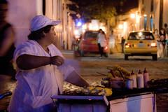 bucdicene04 (((( o )))) Tags: street lady night vendedor noche taxi fat sprint santander giron mazorca seora ambulante