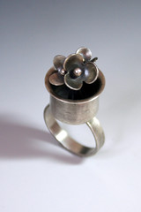 RAW 1 - Flower Pot (rarebirdcreations) Tags: flowers ring flowerpot sterlingsilver raw2011 rarebirdcreatios