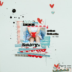 Sundays :: quiet islands one the lossing seas of life (ania-maria) Tags: blue scrapbooking layout lift sunday lo mug scrap ils ilowescrap aniamaria
