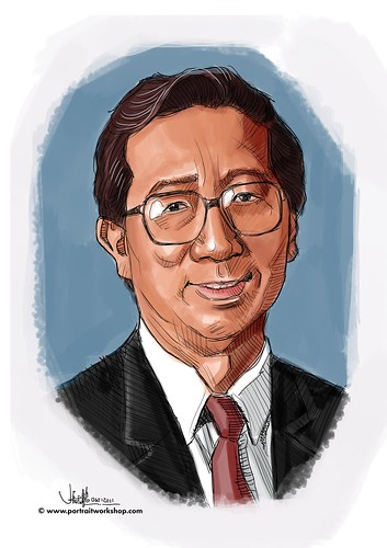 Digital portrait of B Tan