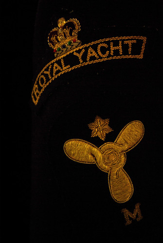 gold edinburgh jacket badge leith royalyacht theroyalyachtbritannia