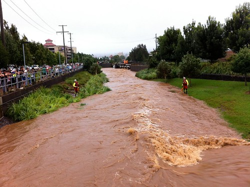 Flooding in Toowoomba, Queensland, Australia