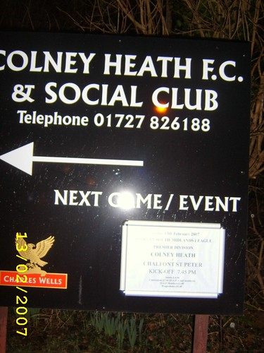 Colney Heath FC 4-6 Chalfont St Peter FC (13-2-07
