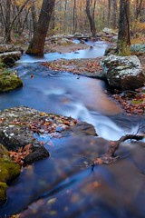 winding stream (photogg19) Tags: autumn fall creek river nikon stream arkansas ozark hebersprings d40 collinscreek