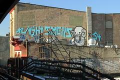 cash4 x smells x swampy (Luna Park) Tags: nyc ny newyork rooftop brooklyn subway graffiti mta lunapark rollers dod smells swampy nemz o2d cash4