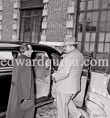H.M. King Farouk Talking To His Driver - Monte Carlo In 1953 (Tulipe Noire) Tags: africa hat car hotel king egypt middleeast montecarlo farouk 1950s egyptian exile 1953