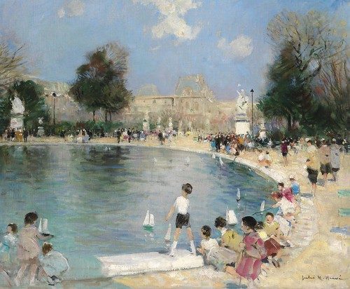 Jules Rene Herve - The Tuileries Garden, Paris