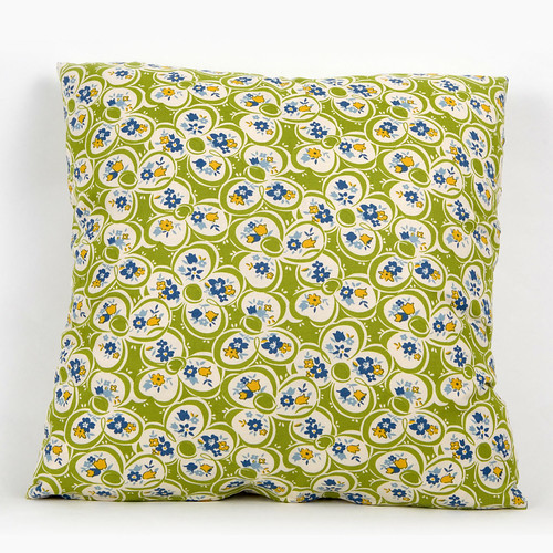 Cushion Cover American Jane Punctuation Floral Green by Moda