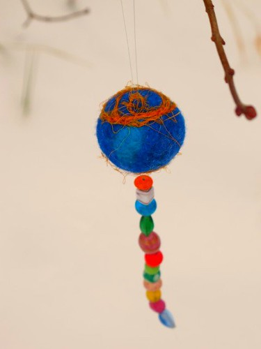 Another felted ball ornament
