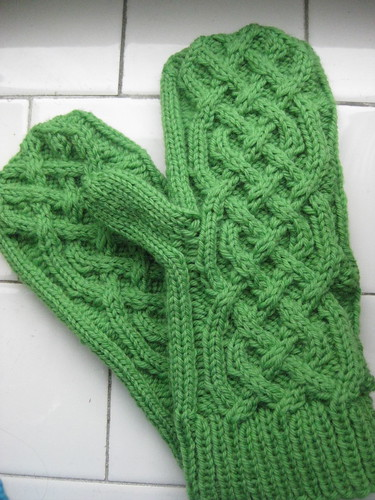Wool Mittens in a Spring Color