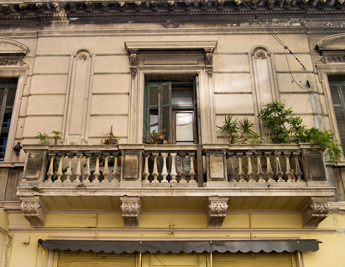 Old Balcony in San Telmo, Buenos Aires, Argentina by katiemetz, on Flickr