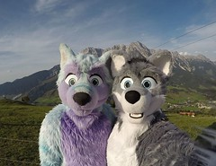 Me and my good friend Arco Fluffypaw in Austria last week :3 We made a funny decision when we've been there in #Austria....like: Hey the weather looks bad for the next two days...lets drive 10 hours to #Paris and enjoy the sun there! .... O.K.! :D 2488 km (Keenora Fluffball) Tags: keenora fursuit furry kee
