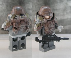 CYBORG WARRIOR - Infantry 707th (ORRANGE.) Tags: black green grey lego camo hazel g2 custom famas orrange