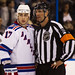 Brandon Dubinsky has a chat with the ref
