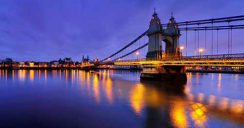 Hammersmith bridge at evening