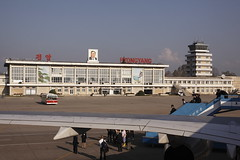 Welcome to DPRK! (Lachlan Towart) Tags: travel airport asia korea northkorea pyongyang dprk kimilsung