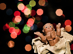 354of365 / tis the season (Flashback.Photography) Tags: christmas baby tree project 50mm bokeh background flash jesus olympus scene adobe figure manger 365 process figurine processed zuiko 520 lightroom f20 zd project365 e520 fl36r