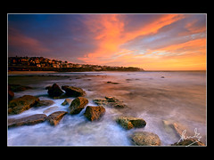 5 seconds of magic Bronte Beach (sachman75) Tags: longexposure morning light beach clouds sunrise dawn coast rocks sydney australia wideangle coastal nsw 1740mm brontebeach easternsuburbs leefilters 5dmark2 canon5dmarkii gradnd3stop