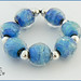 Frozen Seas - Lampwork Glass Bead Set by CLare Scott SRA