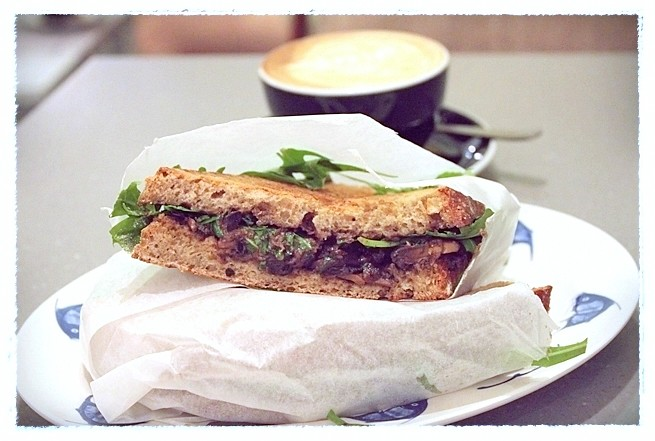 Truffle Mushroom Sandwich