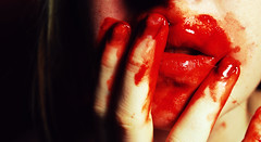 __ (Taylor Conley) Tags: red mouth blood skin fingers nikond60