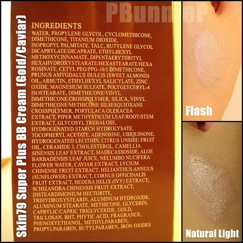 Skin70 Gold Caviar BB Cream_ingredients