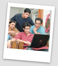 Sabyasachi Chakraborty, sons,  family photo